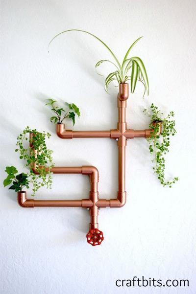 ساخت گلدان با لوله پی وی سی