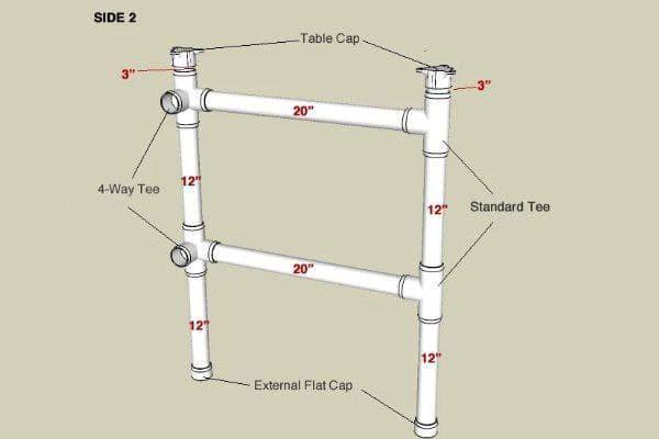 پایه میز پی وی سی